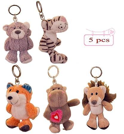 Amazon.com: Paquete de 5 mini juguetes de peluche para ...