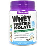 Bluebonnet Nutrition Whey Protein Isolate Powder Free-Roaming Grass-Fed Cows with BCAAs & Glutamic Acid Supports Muscle…