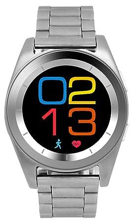 Reloj Inteligente Monitoreo de la Frecuencia Cardíaca Análisis del Sueño Paso Vigilancia de la Salud Relojes Bluetooth, Silver: Amazon.es: Hogar