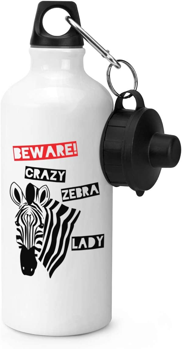 Gift Base Beware Locas Cebra Mujer Botella Deportes
