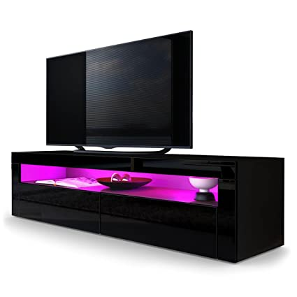 helios 157 contemporary tv entertainment stands for living room tv units with led lighting system - Tv Entertainment Stands