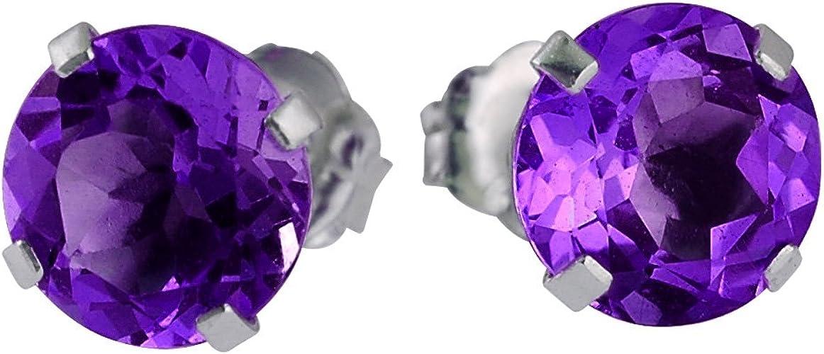 Forget Me Not Aretes Púrpura Genuino 925 Plata Gratis De Regalo