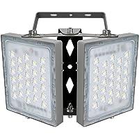 Luz de Inundación de 100W LED, 9000 LM, Reflector de Seguridad 5000 K (Luz Blanca del Día), Foco Ajustable de para Granero, jardín, Patio, Garaje