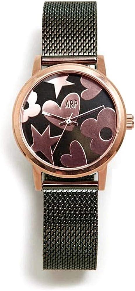 Agatha Ruiz de la Prada Reloj para Mujer Analógico Cuarzo japonés con Correa de Acero Inoxidable AGR252