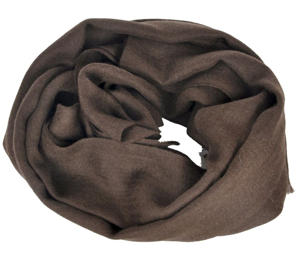 Simplife Women Men 100% Tibetan Yak scarf Natural Color No Dyed 27.6'' x 78.8'' (Natural Brown)