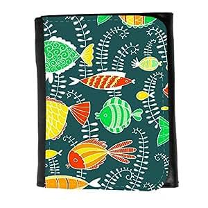 le portefeuille de grands luxe femmes avec beaucoup de compartiments // V00002041 Pesca el modelo de estilo de dibujos // Small Size Wallet
