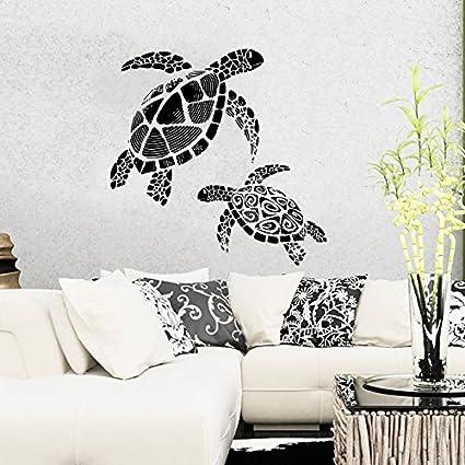 wall decal vinyl sticker decals turtle tortoise tortoiseshell ocean sea bathroom wall decor wall stickers home - Bathroom Wall Decals