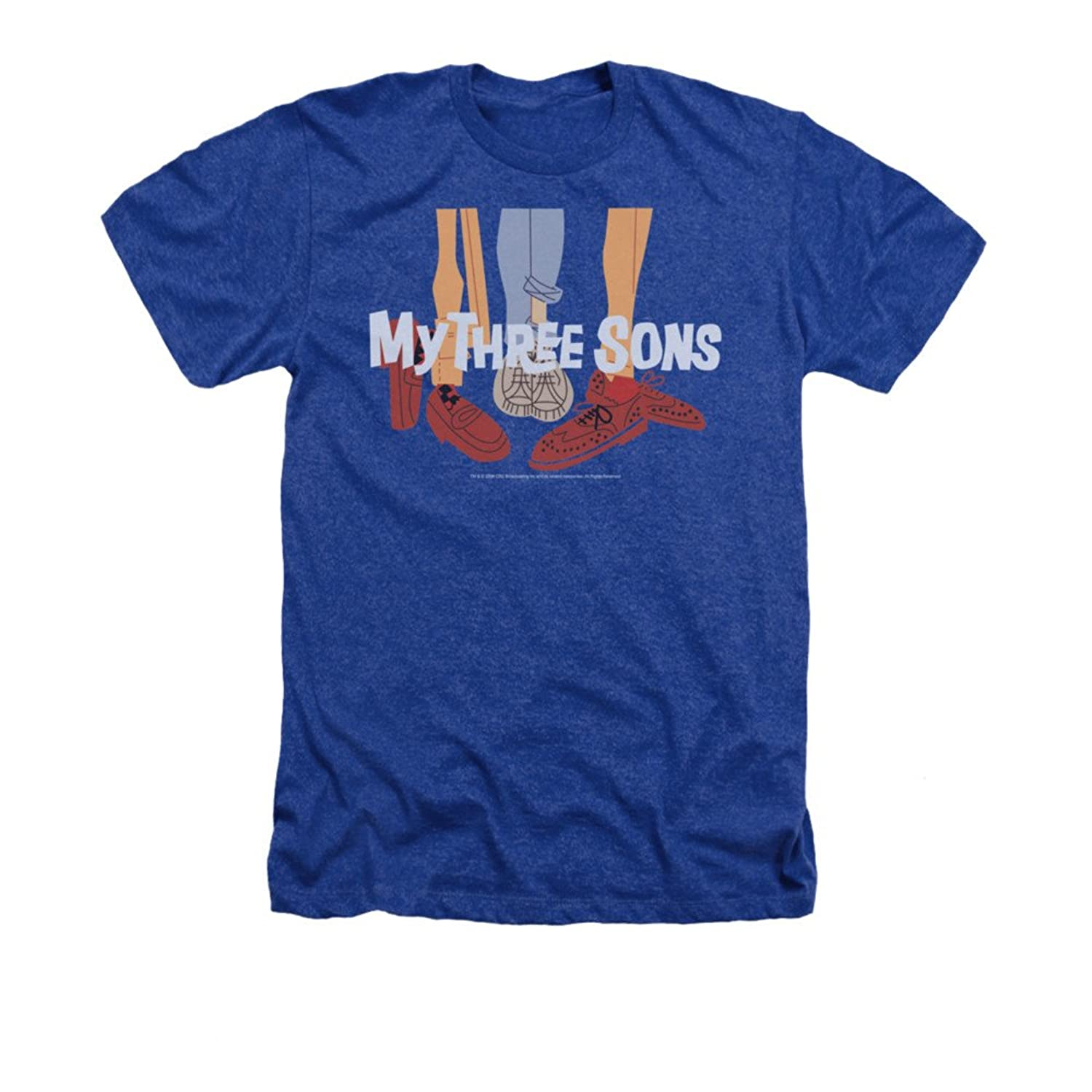 My Three Sons 60's CBS TV Series Shoes Logo Adult Heather T-Shirt Tee