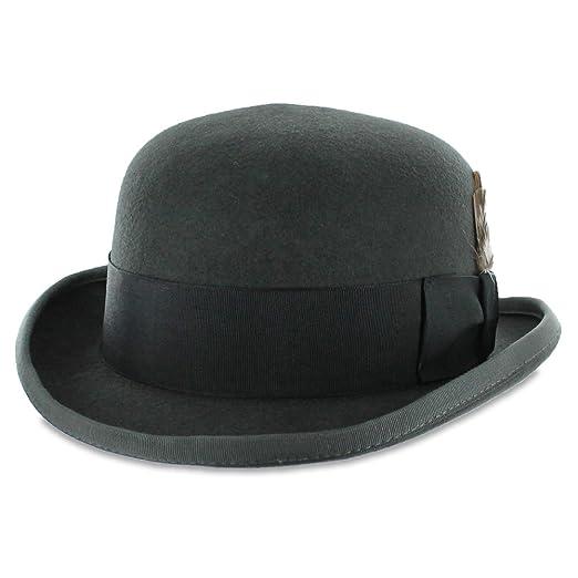Belfry Tammany - Satin Lined 100% Wool Derby Hat (XX-Large, Grey)