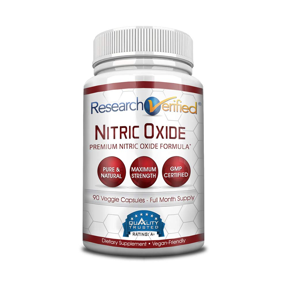 Research Verified Nitric Oxide - With L-Arginine and L-Citrulline - Premium Muscle Building Nitric Oxide Booster - 1 Month Supply ...