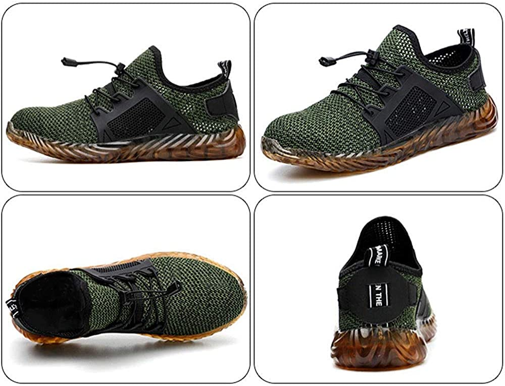 SYLPHID Steel Toe Shoes Work Safety Shoes for Men and Women Lightweight Breathable Industrial /& Construction Sneakers Puncture Proof Footwear