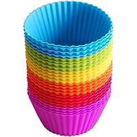 Cupcake-vormen, 24 stuks herbruikbare siliconen bakvormen muffinvormen