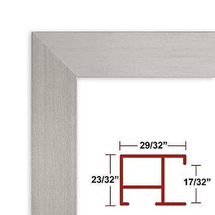 Amazon.com - 21 x 62 Satin Silver Poster Frame - Profile: #97 Custom ...