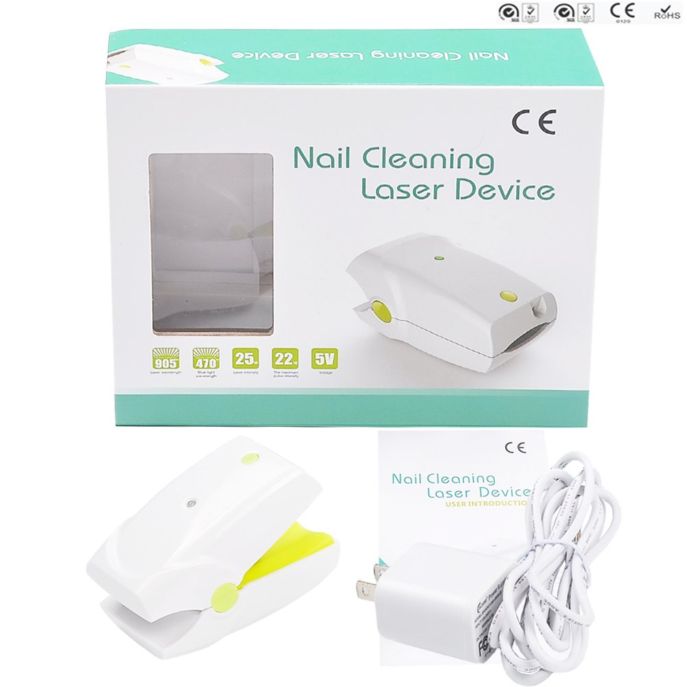 Portable Nail Fungus Cleaning Treatment Cold Laser Device Toenail Onychomycosis Therapy Cure Equipment Revolutionary New Invention Safe No Side Effect Toe Finger Fungal Remover Home Travel Woman Man by HOMLEE