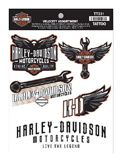 a20009ea8 Amazon.com: Harley-Davidson Velocity Assortment Temporary Tattoos, 5 ...