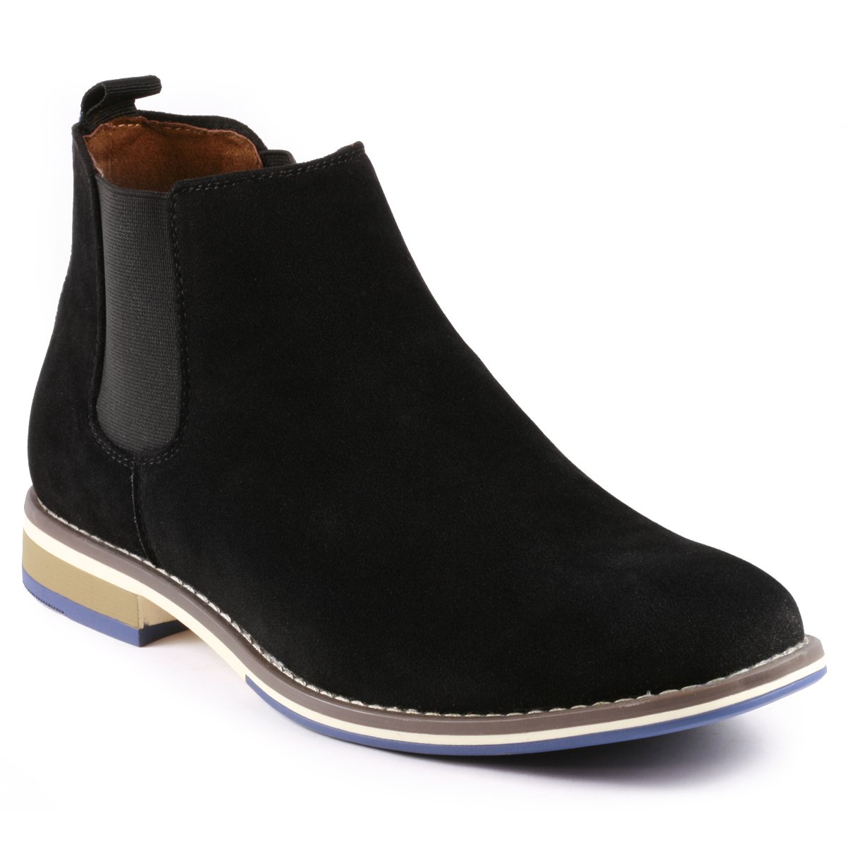 Metrocharm MC130 Men's Formal Dress Casual Ankle Chelsea Boot (7.5 D(M) US, Black)