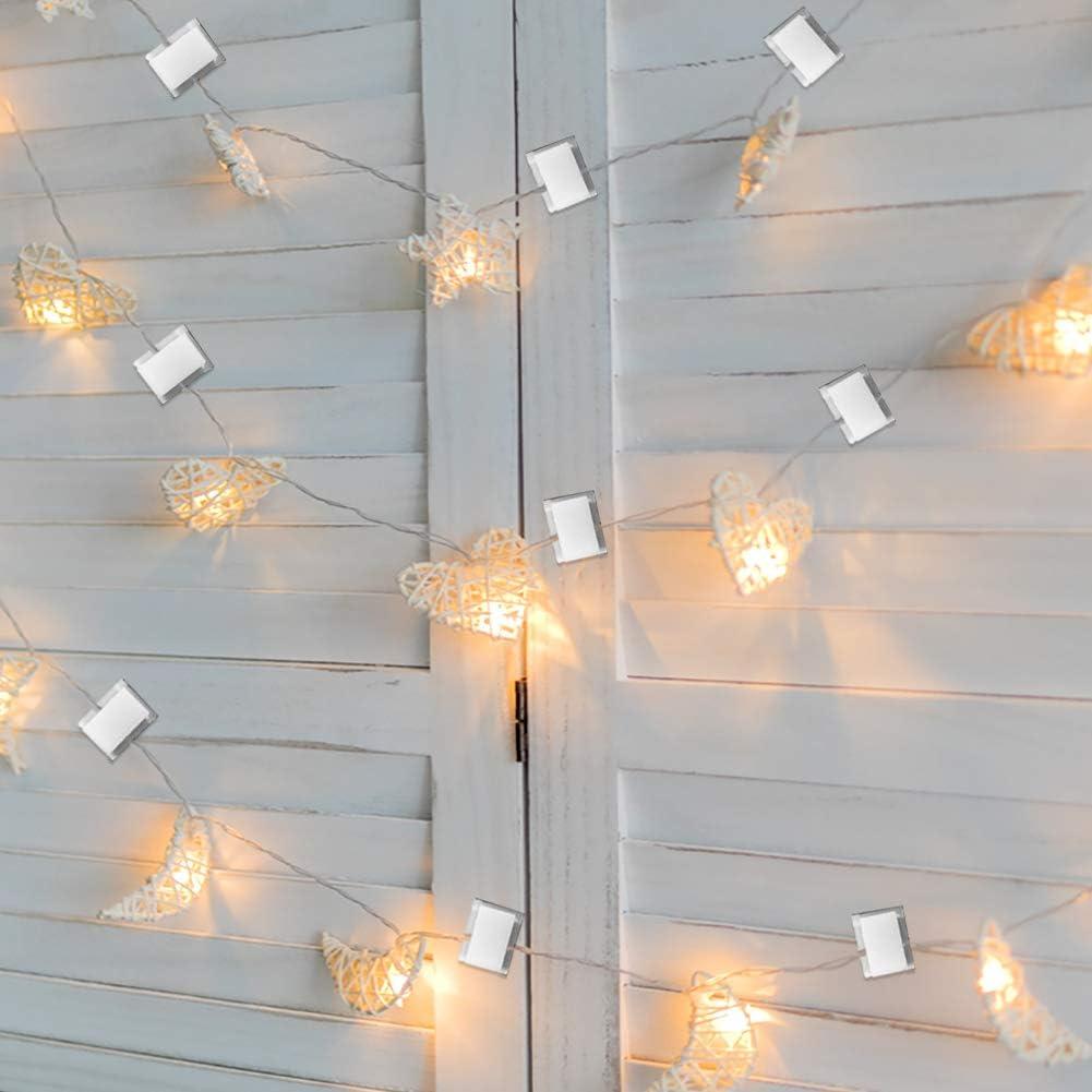 Clip de soporte de montaje de luz de tira LED autoadhesiva de 40 paquetes,sujetadores de cable organizador de alambre Soporte de abrazadera de gesti/ón cables para el hogar de la oficina del veh/ículo