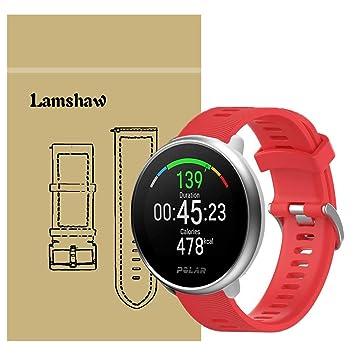 Ceston Moda Deporte Silicona Clásico Correas para Smartwatch Polar Ignite (Rojo)