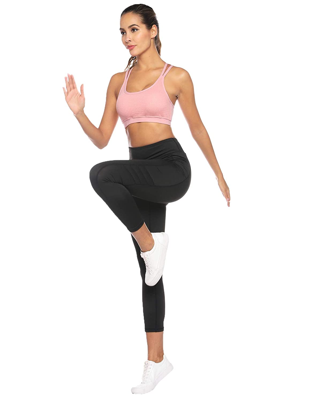 Sykooria Sujetador Deportivo para Mujer Sujetador de Yoga Acolchado sin Espalda con Tiras Sin Costuras con Buen Impacto Gimnasio Gimnasio Ropa ...