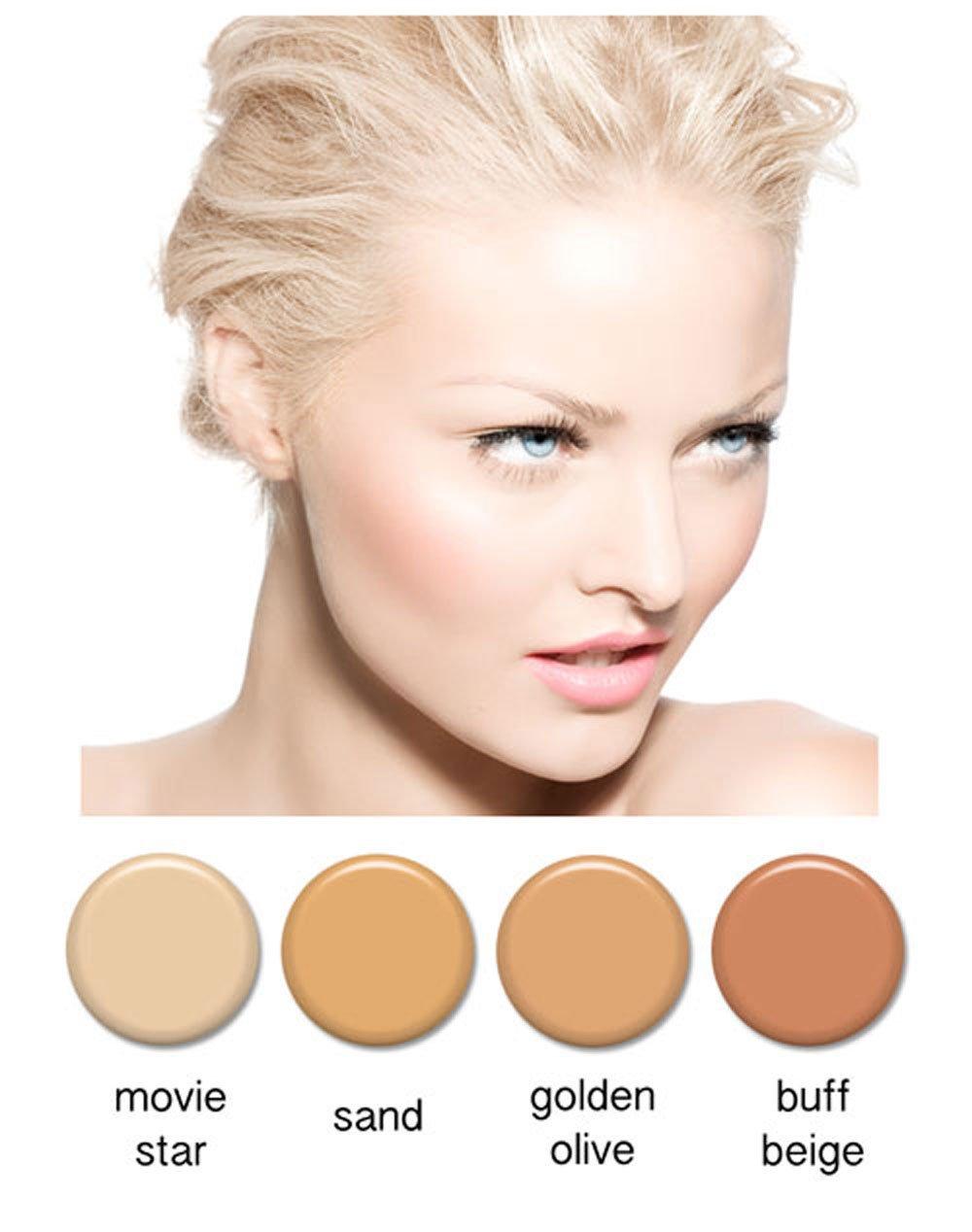 Art of Air 4pc FAIR Complexion Professional Airbrush Cosmetic Makeup Set 1/2 oz bottles