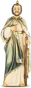 Catholic Saint Jude Statue with Prayer Card, 4 Inch