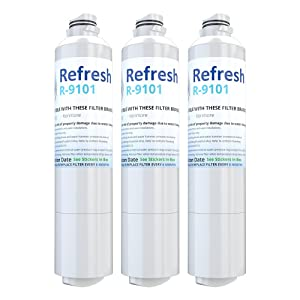 Refresh Replacement for Samsung DA29-00020A, DA29-00020B, HAF-CIN/EXP, 46-9101 Refrigerator Water Filter (3 Pack)