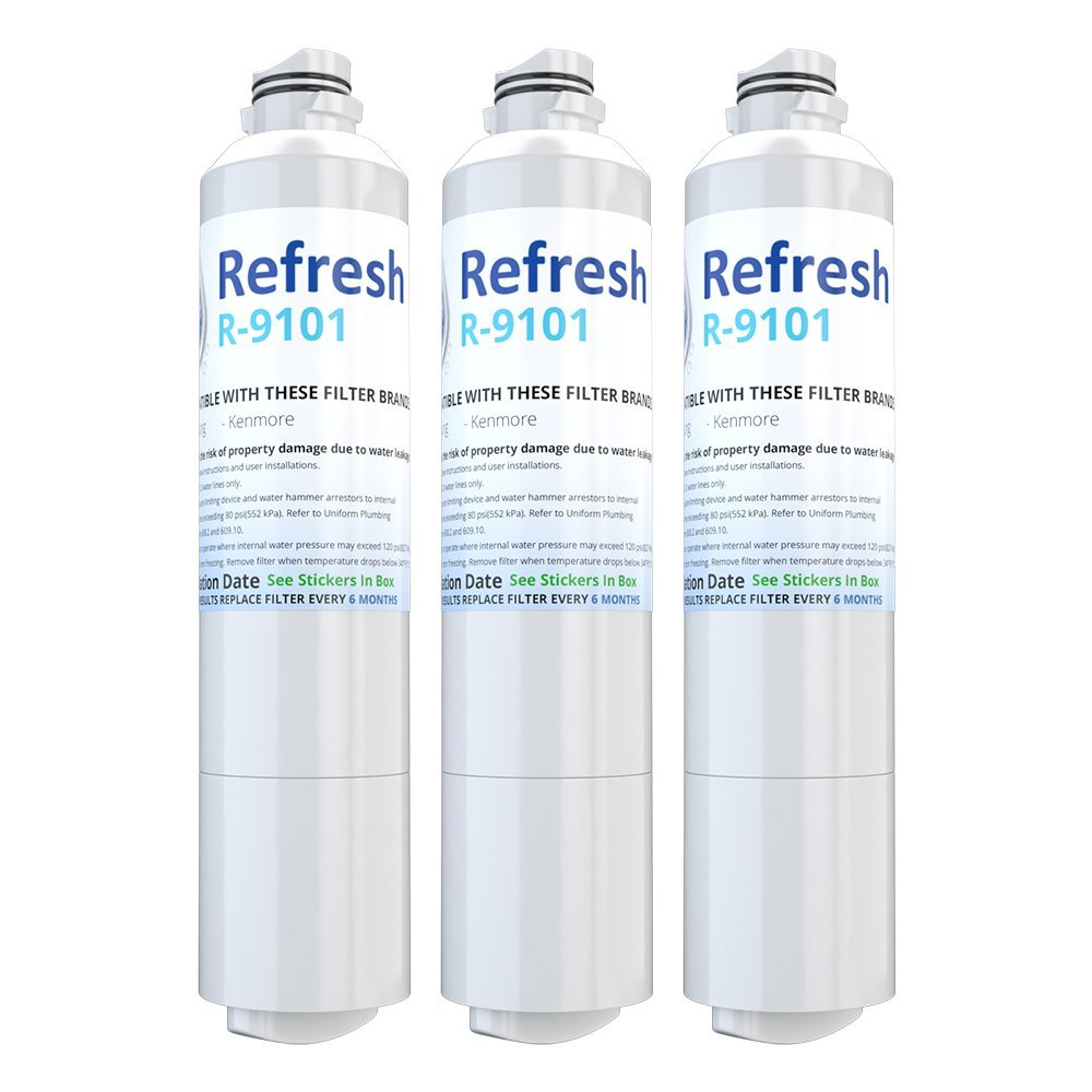 Refresh DA29-00020B Replacement for Samsung DA29-00020B, HAF-CIN/EXP, 46-9101 Refrigerator Water Filter (3 Pack)