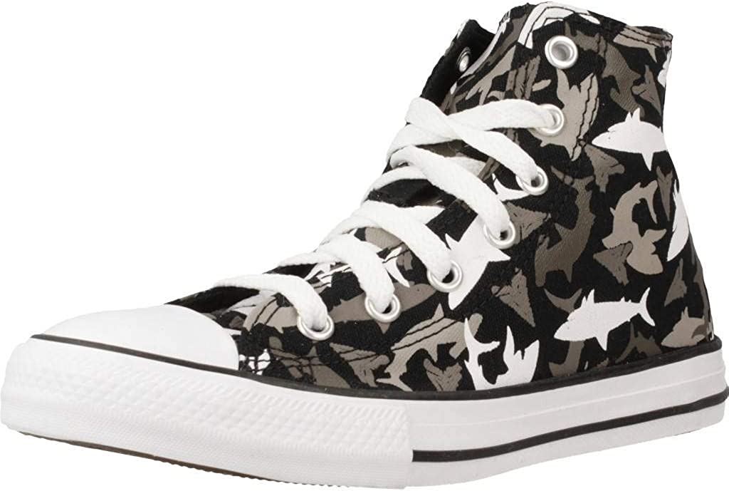 Converse Chuck Taylor All Star Shark Bite Trainers Boys Black/Multi High Top Trainers Shoes