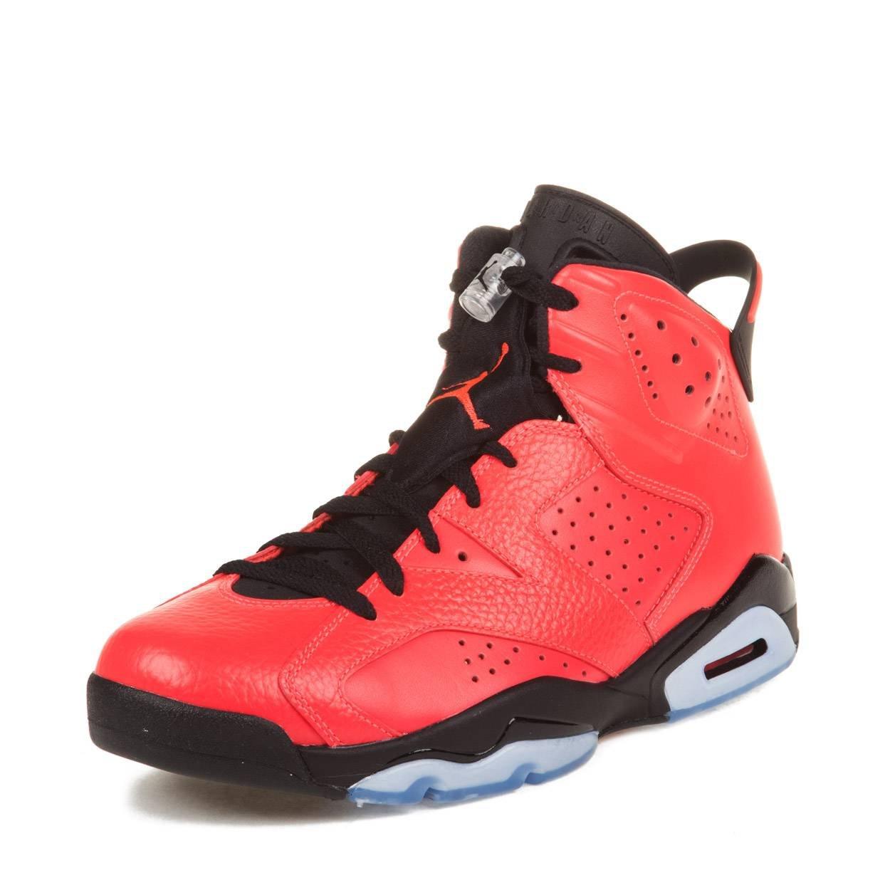 801fe1482f8 Galleon - Nike Mens Air Jordan 6 Retro Toro Infrared 23-Black Leather  Basketball Shoes Size 9.5