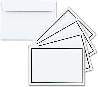 Schwarzer Rahmen Briefumschlag Din Lang Kuvert 50 Stück Trauer
