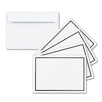 100x Trauer Brief Umschläge Din C6 Mit Schwarzem Rahmen I 114 X 162