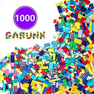 GARUNK Building Bricks 1000 Pieces Set, 1000 Pieces Classic Building Blocks in 11 Colors with Windows and Doors Compatible with All Major Brands for Ages 3 4 5 6 7 8 9 10 Year Old Boys & Girls