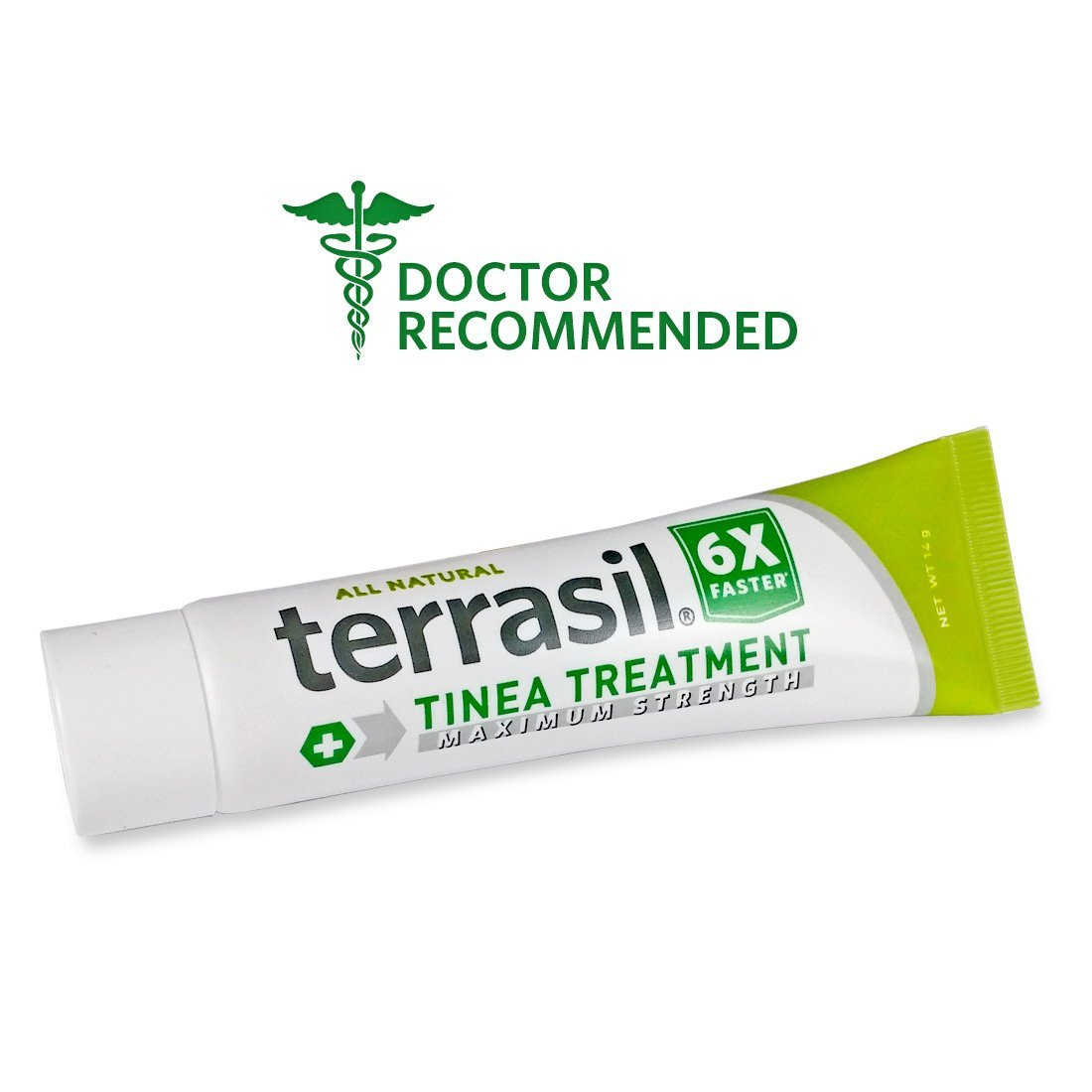 Terrasil® Tinea Treatment MAX - 6x Faster Relief, 100% Guaranteed, Patented All Natural Therapeutic Anti-fungal Ointment for Tinea Versicolor, Corporis, Cruris, and Pedis 14g by Aidance Skincare & Topical Solutions