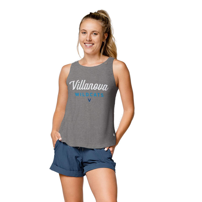 Medium Heather Navy NCAA Womens Villanova Wildcats League Womens Tri-flex Trapeze Tank