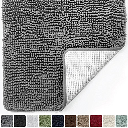 Can Bathroom Rugs Go In The Dryer: Gorilla Grip Original Luxury Chenille Bathroom Rug Mat (30