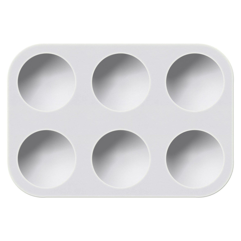 Generic 6-Well White Plastic Palette