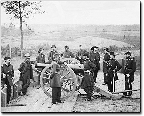 General Sherman & Men in Atlanta Civil War 8x10 Silver Halide Photo Print
