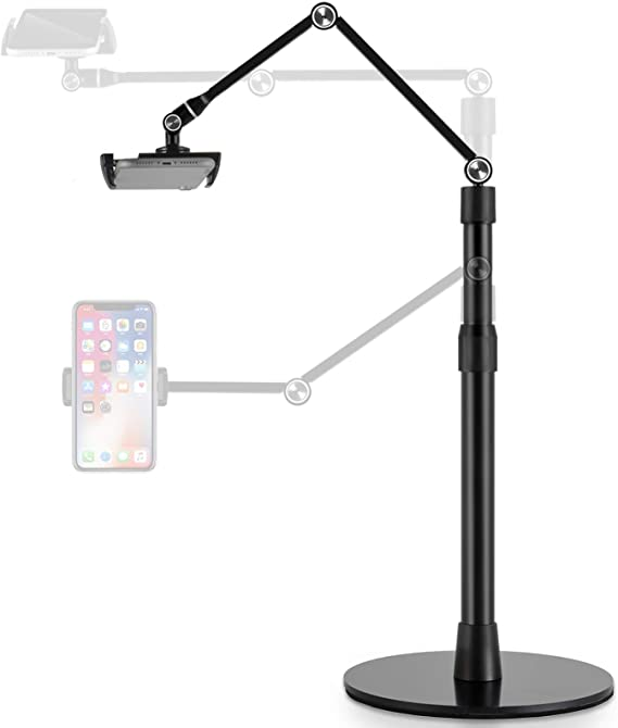 Viozon Tablet Phone Overhead Stand, Height & 360 Degree Angle Adjustable