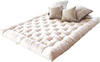 "product image for White Lotus Home OCWDM09 100% Organic Cotton and Wool Dreamton Mattress, 39x80x8-XL Twin 8"", Natural"
