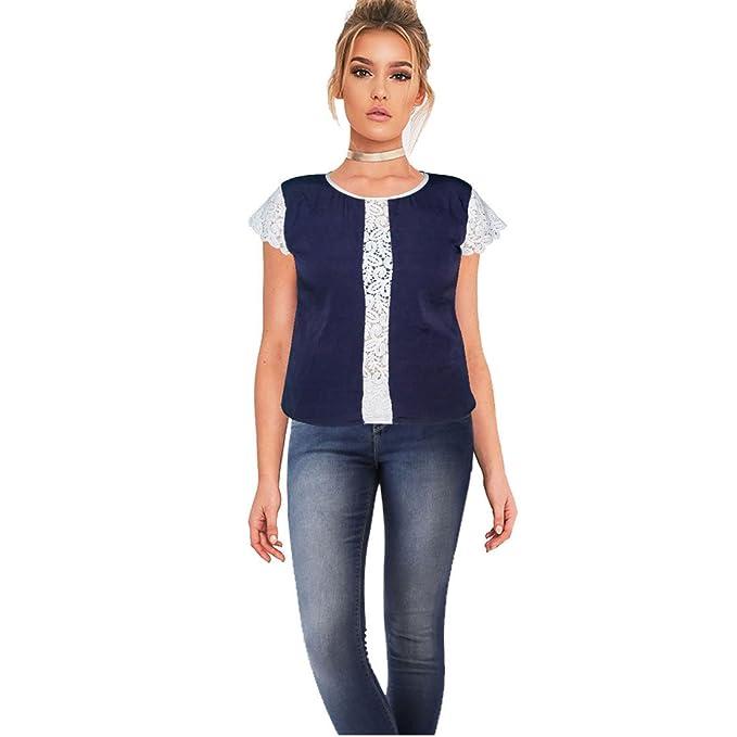 Keiraa Formal Cap Sleeve Solid Women's Dark Blue Top  Medium