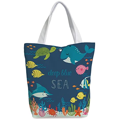 ed83aae487 Amazon.com  iPrint Canvas Shopping bag