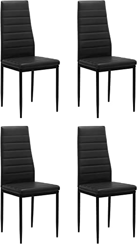 IANIYA Dining Room Chair Kitchen Chair Black
