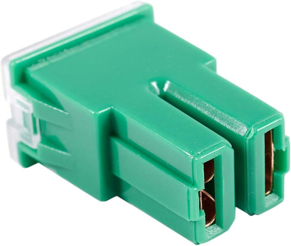 Naliovker 5 x Vert 40A Femelle enfichable Blade Cartridge PAL Fusible pour Voiture