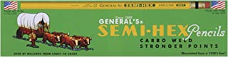 product image for General Pencil Semi-Hex Graphite #2 Pencils 12/Pkg-2HB