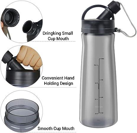 XL Bouteille 1L//1.5L Gourde Sport Fitness Plastique Anti Fuite sans BPA...