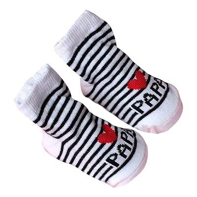 Iuhan Baby Infant Boy Girl Slip-resistant Floor Socks Love Mama Papa Letter Socks