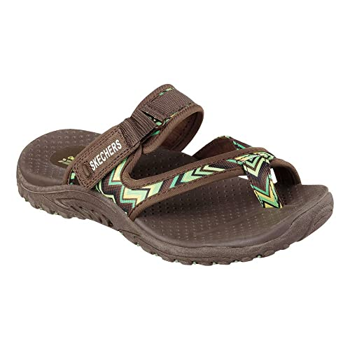 bda927dfff79 Skechers Women s Reggae-Zig Swag Thong Sandal Chocolate 6 M  Buy Online at  Low Prices in India - Amazon.in