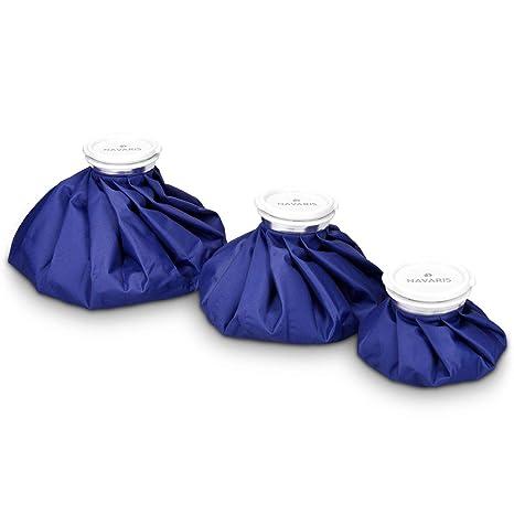 Navaris bolsas de hielo y calor - set 3 tamaños - alivio de lesiones - enfriamiento de músculos - reutilizable caliente y fría - en azul
