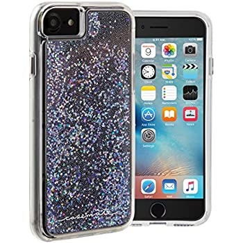 Case-Mate iPhone 7 Case - WATERFALL - Cascading Liquid Glitter - Protective Design for Apple iPhone 7 and iPhone 6 - Black