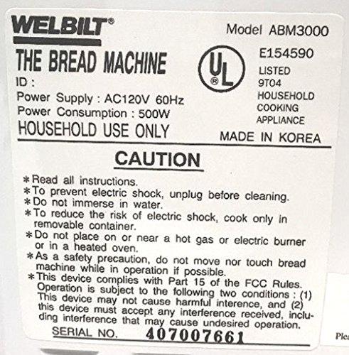 Welbilt Bread Machine Paddle ABM3000 ABM 3000 Kneading Blade Part maker baker